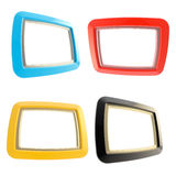 Glossy copyspace frames isolated on white royalty free illustration