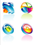 Glossy Corporate Design Elements. An High detailed set of Corporate design elements Stock Illustration