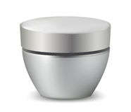 Glossy cosmetic container. Royalty Free Stock Photo