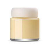 Glossy cosmetic container. Stock Image