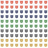 Glossy Crest Icon Set Royalty Free Stock Photography