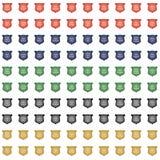 Glossy Crest Icon Set royalty free illustration