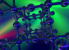 Glossy crystal structure Royalty Free Stock Photos