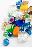 Glossy crystals. Marbles an crystals of different shapes and colors Royalty Free Stock Images