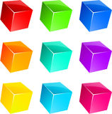 Glossy cubes. Royalty Free Stock Photography