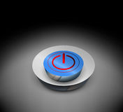 Glossy 3D power off button Stock Images