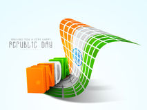 Glossy 3D text of India for Indian Republic Day celebration. Royalty Free Stock Photos