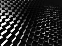 Glossy Dark Metallic Cubes Background Stock Photos