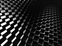 Glossy Dark Metallic Cubes Background Stock Photos