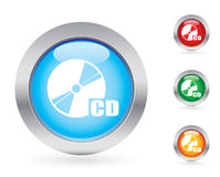 Glossy disc button set Stock Image