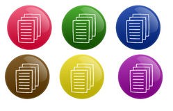 Glossy Document Button Stock Photo