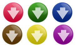 Glossy Download Button Stock Photo