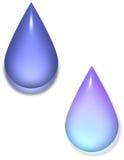 Glossy droplets Royalty Free Stock Photo