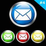 Glossy e-mail buttons Royalty Free Stock Images