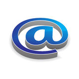 Glossy e-mail Icon Royalty Free Stock Photo