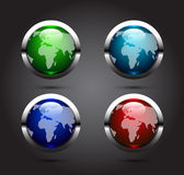 Glossy  Earth globe Royalty Free Stock Photography