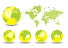 Glossy Earth globes Royalty Free Stock Image
