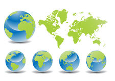 Glossy Earth Globes Stock Images