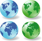 Glossy Earth Globes  Stock Photos
