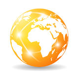 Glossy earth icon Stock Photography
