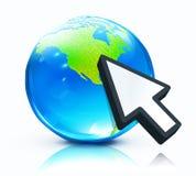 Glossy earth map globe Royalty Free Stock Photography