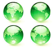 Glossy Earth Map Globes Royalty Free Stock Photography