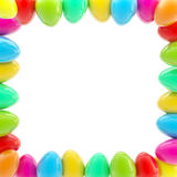 Glossy easter egg square colorful frame Stock Photos