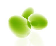 Glossy easter eggs Stock Images