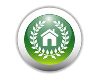 Glossy Eco-Friendly Home Icon Stock Photos