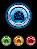 Glossy email button Royalty Free Stock Images