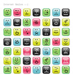 Glossy emotions icons. vector illustration
