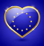 Glossy european heart Stock Images