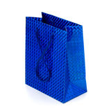 Glossy festive gift bag Stock Image