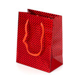 Glossy festive gift bag Stock Photos