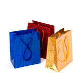 Glossy festive gift bags Stock Images