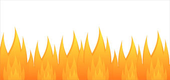 Glossy fire background Stock Photography
