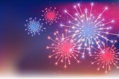 Glossy Fireworks Background Vector Illustration. EPS10 royalty free illustration