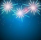 Glossy Fireworks Background Vector Illustration Stock Image