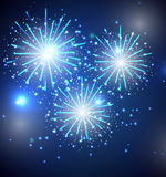 Glossy Fireworks Background Vector Illustration Royalty Free Stock Photos