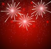 Glossy Fireworks Background Vector Illustration Stock Images