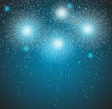 Glossy Fireworks Background Vector Illustration Royalty Free Stock Photo
