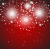 Glossy Fireworks Background Vector Illustration. This is file of EPS10 format Stock Image