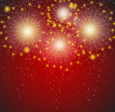 Glossy Fireworks Background Vector Illustration. This is file of EPS10 format Royalty Free Stock Images