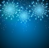 Glossy Fireworks Background Vector Illustration. EPS10 Stock Photography
