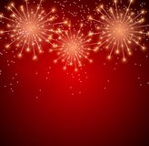 Glossy Fireworks Background Vector Illustration. EPS10 Royalty Free Stock Images