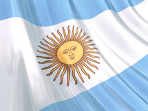 Glossy Flag of Argentina Royalty Free Stock Photos