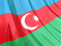 Glossy Flag of Azerbaijan Royalty Free Stock Image
