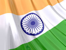 Glossy Flag of India Stock Image