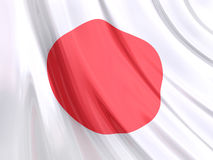 Glossy Flag of Japan Royalty Free Stock Images