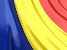 Glossy Flag of Romania Royalty Free Stock Photography